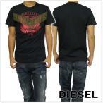 DIESEL ディーゼル メンズクルーネックTシャツ T-DIEGO-GO / 00SS3N 0091B ブラック