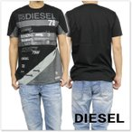 DIESEL ディーゼル メンズクルーネックTシャツ T-JOE-NI / 00SWQ6 0QANW ブラック /2017春夏新作