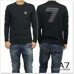 EMPORIO ARMANI エンポリオアルマーニ EA7 メンズロングTシャツ 6XPT83 PJ18Z ブラック