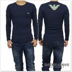EMPORIO ARMANI UNDERWEAR エンポリオアルマーニアンダーウェア メンズロングTシャツ 111023 6A725 ネイビー