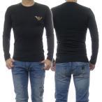 EMPORIO ARMANI UNDERWEAR エンポリオアルマーニアンダーウェア メンズクルーネックロングTシャツ 111023 0A526 ブラック /2020秋冬新作