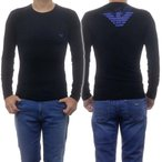 EMPORIO ARMANI UNDERWEAR エンポリオアルマーニアンダーウェア メンズクルーネックロングTシャツ 111023 0A725 ブラック