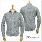 ショッピングレオパード FINAMORE フィナモレ メンズカッタウェイシャツ SIMONE / GENOVA 960765 ブルーレオパード