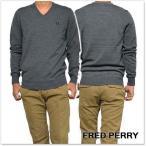 FRED PERRY フレッドペリー メンズVネックセーター K7210 / CLASSIC V NECK SWEATER グレー