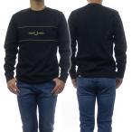 FRED PERRY フレッドペリー メンズクルーネックロングTシャツ EMBROIDERED PANEL T-SHIRT / M9593 ブラック /2020秋冬新作