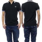 FRED PERRY フレッドペリー メンズ半袖ポロシャツ M7503 / BLOCK TIPPED ブラック