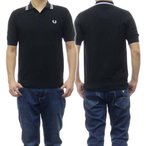FRED PERRY フレッドペリー メンズ半袖ポロシャツ K8517 / TEXTURED ブラック