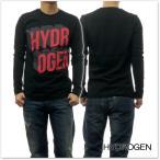 HYDROGEN ハイドロゲン メンズクルーネックロングTシャツ 225608 ブラック