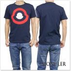 ショッピングmoncler MONCLER モンクレール クルーネックTシャツ 80203-50-82565 ネイビー /2017春夏新作