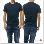 ショッピングmoncler MONCLER モンクレール メンズクルーネックTシャツ 80283-00-8390Y ネイビー /2018春夏新作