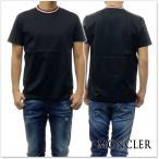 ショッピングmoncler MONCLER モンクレール メンズクルーネックTシャツ 80283-00-8390Y ブラック /2018春夏新作