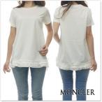 ショッピングmoncler MONCLER モンクレール レディースクルーネックTシャツ 80806-00-8390X オフホワイト /2018春夏新作
