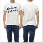 MAISON KITSUNE メゾンキツネ メンズクルーネックTシャツ AM00104AT1500 オフホワイト /2018春夏新作