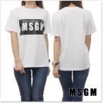 MSGM エムエスジーエム レディースクルーネックTシャツ 2441MDM95 184299 ホワイト /2018春夏新作