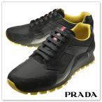 PRADA プラダ メンズレザースニーカー CALZATURE UOMO / 4E2830 OQT ブラック