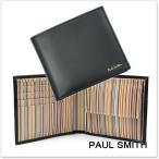 PAUL SMITH ポールスミス レザー二つ折財布(小銭入れ付き)4833 W761 ブラック