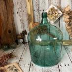 ≫ヴィンテージ*大きな古い デミジョンボトル*硝子 ガラス瓶 大型*花瓶フラワーベース花器*気泡ゆらゆら歪*ビンテージ*アンティーク古道具
