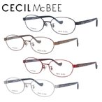 メガネフレーム ブランド 丸型 おしゃれ かわいい PC眼鏡 伊達メガネ セシルマクビー CECIL McBEE CMF 3043 全4カラー 52