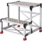 トラスコ アルミ合金製作業台 縞鋼板 500X400X600 336-5115  TSFC256