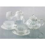 10%OFF ( ティーフォーツー ウェーブティータイムセット ) 耐熱ガラス ティーカップ ティーポット ミルクピッチャー シュガーポット
