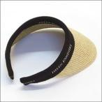 ショッピングヘレンカミンスキー ヘレンカミンスキー Bianca/Natural/Black Logo ≪2015SS≫ビアンカ UPF50+ クリップ サンバイザー ラフィア製ハット レディース帽子
