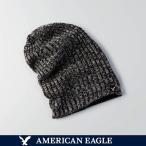 メール便 送料無料 アメリカンイーグル メンズ ニットキャップ ニット帽 帽子 リバーシブル  ビーニー オレンジ ブラック