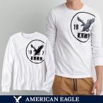 メール便 送料無料 アメリカンイーグル/メンズ/長袖/ロング Tシャツ/ロンT/ホワイト S M L サイズ/American Eagle/本物・正規品保証