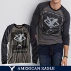 メール便 送料無料 アメリカンイーグル/メンズ/長袖/ロング Tシャツ/ロンT/グレー S M L サイズ/American Eagle/本物・正規品保証
