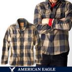 アメリカンイーグル メンズ 長袖 ボタンシャツ ブロックチェック柄 XS S M サイズ フランネル ワーク シャツ カーキ ブラック