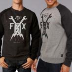 FOX /フォックス メンズ スウェット トレーナー グレー ブラック ラグラン 正規品