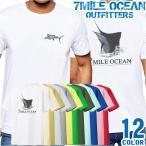メール便 送料無料 7MILE OCEAN メンズ 半袖 Tシャツ カジキ マーリン 海 フィッシャーマン ルアー 魚釣り フィッシング SP
