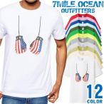 メール便 送料無料 7MILE OCEAN メンズ 半袖 Tシャツ ボクシング グローブ だまし絵 スポーツ USA 格闘技 SP