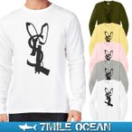 メール便 送料無料 7MILE OCEAN メンズ 長袖 Tシャツ ロンT ロングTシャツ ミリタリー パチンコ スリングショット YSL パロディー プリント