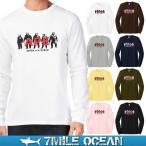 メール便 送料無料 7MILE OCEAN メンズ 長袖 Tシャツ ロンT ロングTシャツ 無地 APE 類人猿