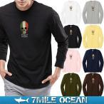 メール便 送料無料 7MILE OCEAN メンズ 長袖 ロング Tシャツ ロンT tシャツ カットソー プリント ロゴT アメカジ ITALY イタリア ミラノ スカル ドクロ 人気