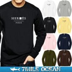 メール便 送料無料 7MILE OCEAN メンズ 長袖 ロング Tシャツ ロンT tシャツ カットソー プリント ロゴT アメカジ ロゴ 人気 ブランド セレブ パロディ