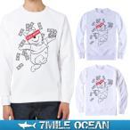 7MILE OCEAN/メンズ/スウェット/スウエット/トレーナー/スエット/無地/裏起毛なし/パイル地/ベア/くまさん/プーやん/プリント/ロゴ