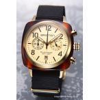 BRISTON ブリストン 腕時計 クラブマスター クロノグラフ イエローゴールド(トータス)×ブラック 14140.PYA.T.7.NB