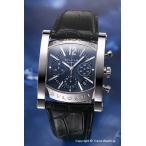 ブルガリ 腕時計 BVLGARI アショーマ クロノグラフ ブルーグレー/ブラッククロコダイルレザー AA48C14SLDCH