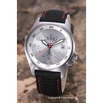 ケンテックス 腕時計 S455M-03 海上自衛隊モデル シルバー/ブラックナイロンストラップ