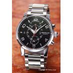 モンブラン 腕時計 メンズ MONT BLANC タイムウォーカー ツインフライ ブラック 104286