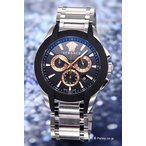 ヴェルサーチ 腕時計 メンズ キャラクター クロノグラフ ブラック×ローズゴールド M8C99D007S099