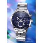 アニエスベー 腕時計 メンズ FBRD980 ソーラー クロノ ブルー