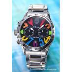 エンジェルクローバー 腕時計 メンズ レフトクラウン ロエン限定 ブラック(マルチカラー) LC42ROSSRB