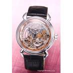 アルカフトゥーラ 腕時計 メンズ ARCA FUTURA オートマチック スケルン シルバー×ローズゴールド 309SB-BK