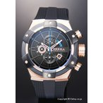 ブレラオロロジ 腕時計 メンズ BRERA OROLOGI スーパースポルティーボ ブラック×ローズゴールド BRSSC4902