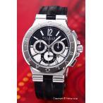 ブルガリ BVLGARI 腕時計 メンズ DG42BSLDCH ディアゴノ カリブロ303 ブラック×シルバー レザー画像