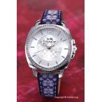 ショッピングコーチ コーチ 腕時計 レディース COACH 14502417 ボーイフレンド シルバー/ネイビーシグネチャーレザー