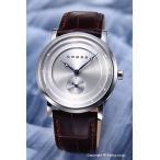 CROSS クロス 腕時計 CR8027-02 アロンゾ・シリーズ ラウンド シルバー×ダークブラウン