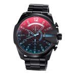 ディーゼル 腕時計 メンズ DZ4318 メガチーフ クロノグラフ ブラックポラライザー
